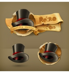 Cylinder hat icon vector image vector image