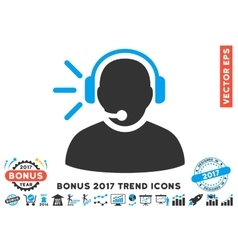 Operator Message Flat Icon With 2017 Bonus Trend vector image