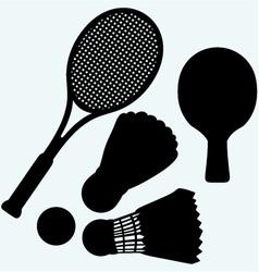 Ping pong tennis and badminton vector image