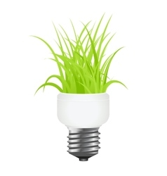 power saving lamp vector image vector image