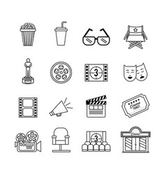 set cinematography tools production studio vector image
