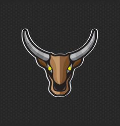 cow logo design template cow head icon vector image
