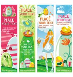 cute Easter banners vector image vector image