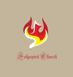 Dove holyspirit logo vector