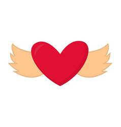 heart with wings valentine abstract design vector image vector image