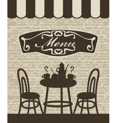 menu with a table vector image vector image