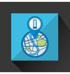 Mobile device england gps map vector