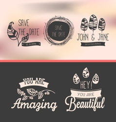 set of vintage stickers vector image vector image
