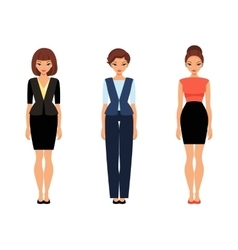 Three business women in office clothes vector image
