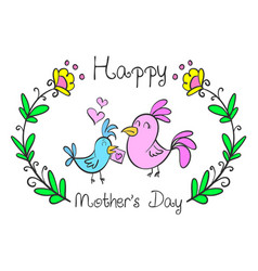 collection mother day style design vector image vector image