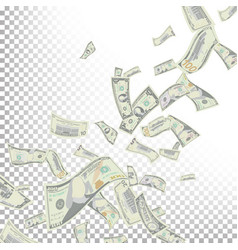 flying dollar banknotes cartoon money vector image vector image