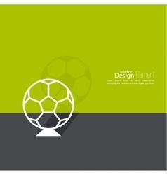 icon soccer ball vector image