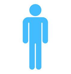 man sign human icon men symbol vector image