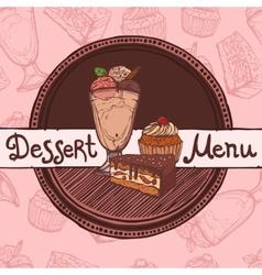 Restaurant sketch menu template vector image vector image