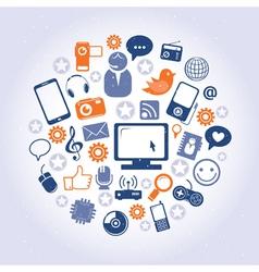 Social network pattern vector image vector image