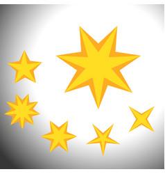 star symbols set set of simple bridge symbols vector image
