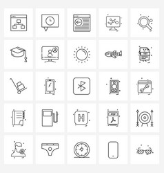 25 universal icons pixel perfect symbols table vector