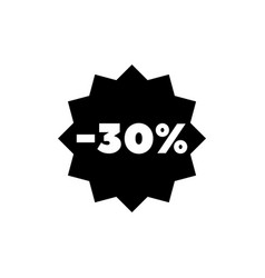 30 percent off sale discount flat icon vector image