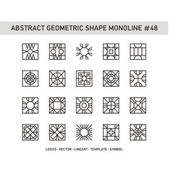 Abstract geometric shape monoline 48 vector