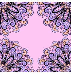 Abstract pink-lilac pattern vector image