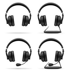 Acoustic headphones 05 vector