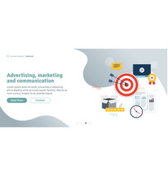 Advertising marketing and communication vector