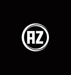 Az logo initial letter monogram with circle slice vector