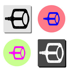 bike pedals flat icon vector image