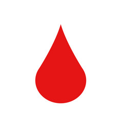 blood drop icon vector image