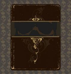 book of skulls vector image