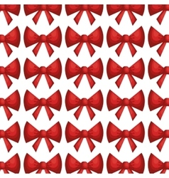 Bow ribbon pattern decoration vector