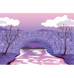 bridge made up of stones vector image
