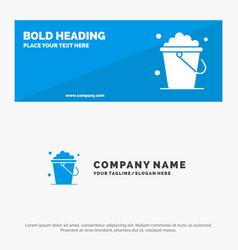 Bucket cleaning floor home solid icon website vector