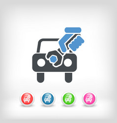 Car assistance concept icon vector