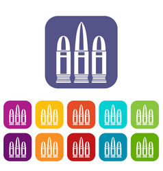 Cartridges icons set vector