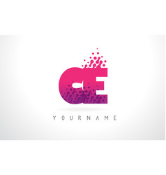 Ce c e letter logo with pink purple color and vector