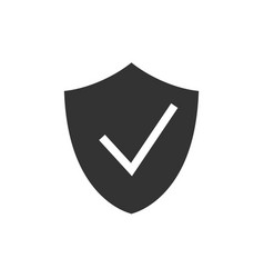 check shield black icon vector image