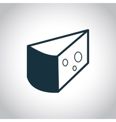 Cheese black icon vector image