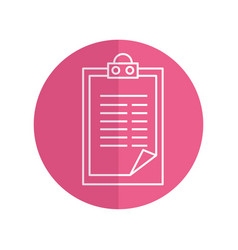 clipboard document isolated icon vector image