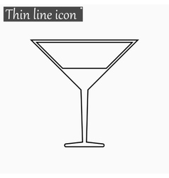 Coctail icon Style thin line vector image