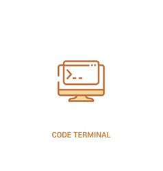 code terminal concept 2 colored icon simple line vector image
