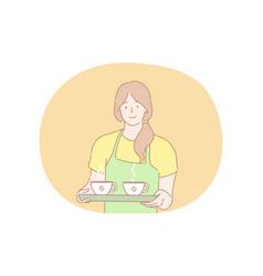 coffee shop service advertising concept vector image