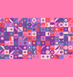 colorful random curved shape pattern hd background vector image