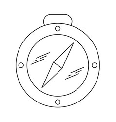 compass line black icon vector image