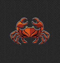 crab logo design template crab head icon vector image