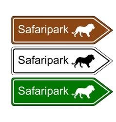 Direction sign safari park vector image