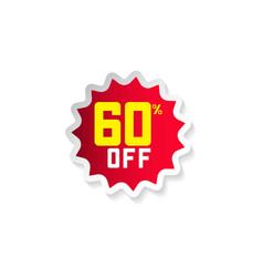 Discount 60 off template design vector