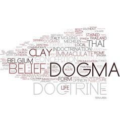 Dogma word cloud concept vector