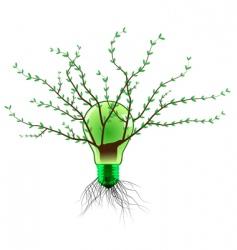 eco light bulb vector image