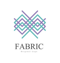 Fabric original logo design creative geometrical vector